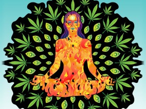 Ganja Marijuana Yoga