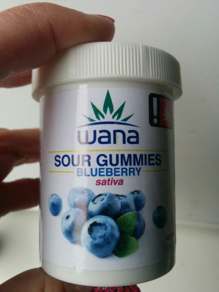 Wana Blueberry Sour Gummies were among the author's first legal dispensary purchases.