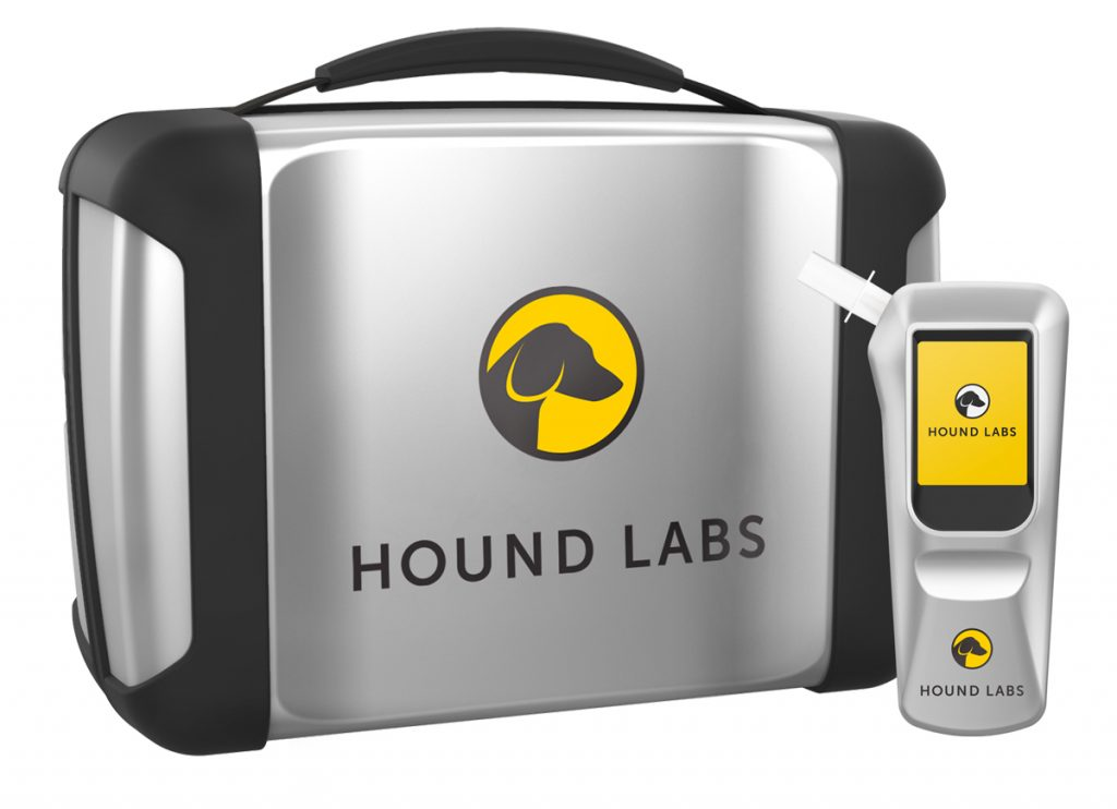 Hound Labs claims its Breathalyzer will give accurate results of cannabis intoxication within minutes. (Image courtesy of Hound Labs)