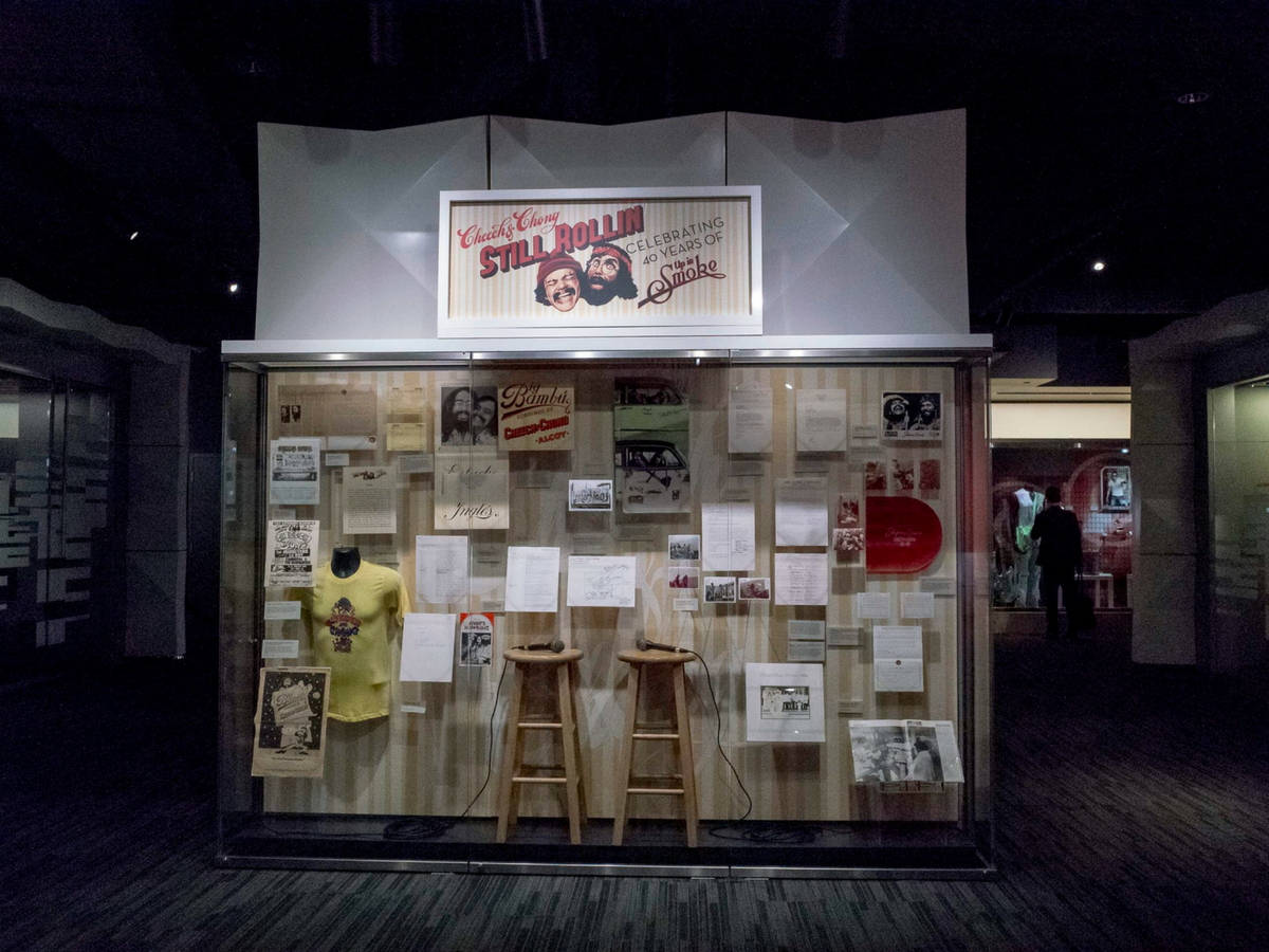 Cheech & Chong's Still Rollin' exhibition at the Grammy Museum, Los Angeles.