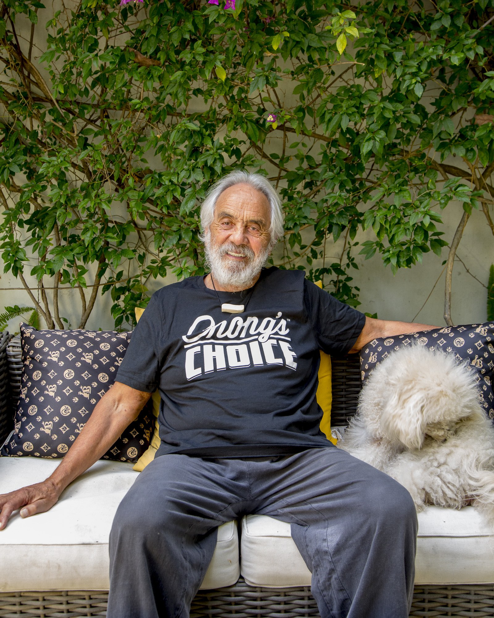 Tommy Chong at his home, July 2018. (Image courtesy of Maria Penaloza)