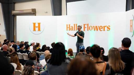 "The cannabis industry has been going on for a lot longer than anyone in this room has been alive,"" Gary Vee told the crowd at Hall of Flowers. (Image courtesy of Joshua Jacob Mezher)"