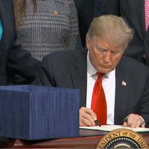 President Trump signs the 2018 Farm Bill in Washington, DC, December 20, 2018.
